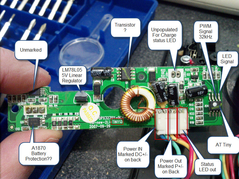teardown burnt traces labled lipo charger