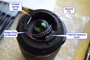 Nikon Aperture Ring Disassembly